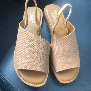 Never used! Beige one strap sandals - Franco Sarto